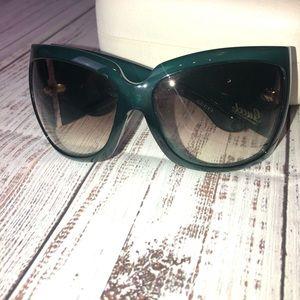Authentic Gucci green sunglasses